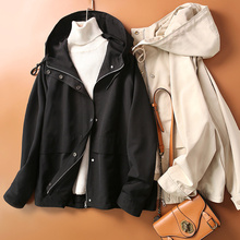 2021 High-quality Hooded Short Jacket For Women Spring Autumn Harajuku Loose Coat New Arrival Casual Pocket Hot Sale Outerwear