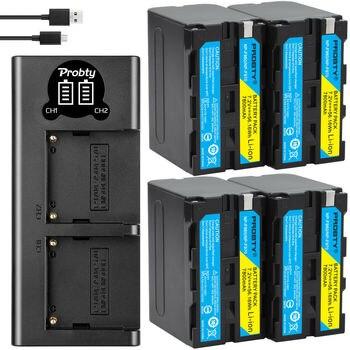 7800mah NP F960 NP F970 NP-F960 NP-F970 F950 batería + Cargador USB LED para Sony PLM-100 CCD-TRV35 MVC-FD91 MC1500C L10 TR555 VX22