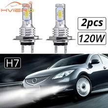 2X coche LED CSP Mini H7 H4 H11 H8 H1 H3 9005 HB3 9006 HB4 120W Chip lámparas de luz de coches faro bombillas de señal intermitente luces de niebla