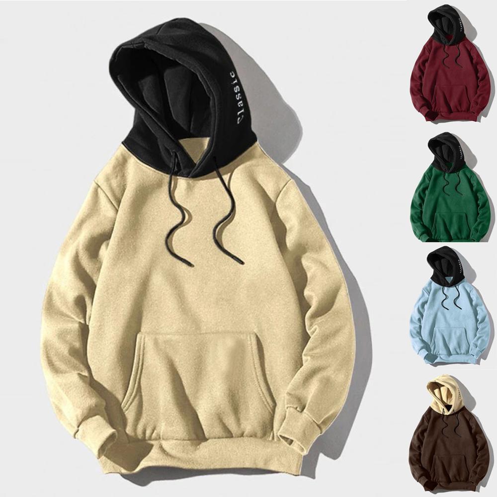 2019 primavera marca de moda hoodies masculinos outono masculino casual hoodies moletom com capuz de cor sólida dos homens moletom topos estilo