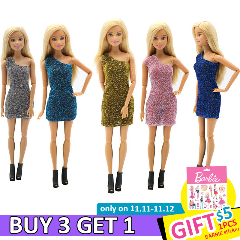 For Original Barbie Fashion Doll Clothes Twinkle Princess Girls Style Wear Blouse Dress Skirt 29cm 1/6 Dolls Toys Accessories