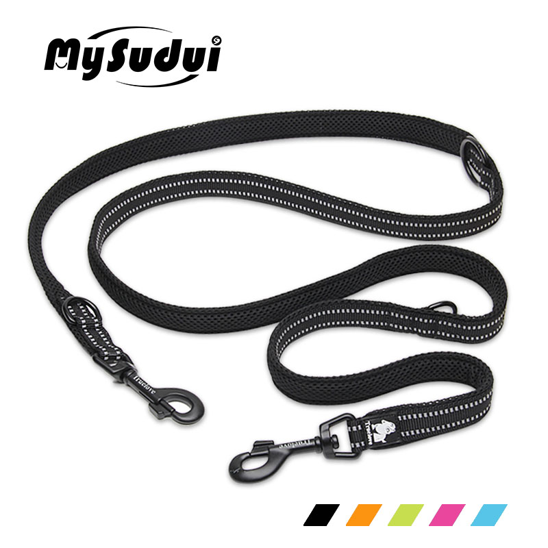 MySudui Truelove 7 In 1 Multi-Function Nylon Dog Leash For Double Running Training Hands Free Pet Honden Halsband
