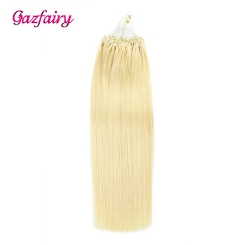 """Gazfairy Straight Loop Micro Ring Hair 16"""" 18'' 20"""" 22"""" 24'' 100g Pure Color Human Micro Bead Links Real Remy Hair Extensions"""