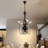 Led g4 postmodernistyczna żelaza szkło ptak lampa LED lampa LED. wisiorek światła. lampa wisząca. wisiorek światła do jadalni Foyer sklep w Wiszące lampki od Lampy i oświetlenie na