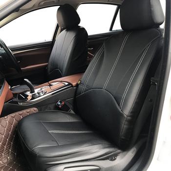 Nowe luksusowe PU skórzany Auto uniwersalne pokrowce na siedzenia samochodowe na prezent pokrowce na siedzenia samochodowe pasuje większość samochodów miejsc wodoodporne wnętrza samochodów tanie i dobre opinie Cztery pory roku CN (pochodzenie) 46cm Pokrowce i podpory Podstawowa funkcja 28cm car-covers car seat covers universal PU Leather