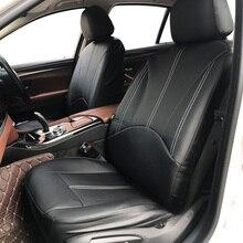 Nowe luksusowe PU skórzany Auto uniwersalne pokrowce na siedzenia samochodowe na prezent pokrowce na siedzenia samochodowe pasuje większość samochodów miejsc wodoodporne wnętrza samochodów