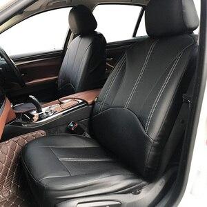 Image 1 - 新しい高級puレザーオートユニバーサルカーシートは、ギフト用自動車シートカバーフィットほとんどの車の座席防水車インテリア