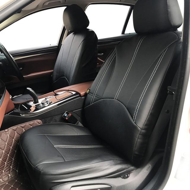 新しい高級puレザーオートユニバーサルカーシートは、ギフト用自動車シートカバーフィットほとんどの車の座席防水車インテリア