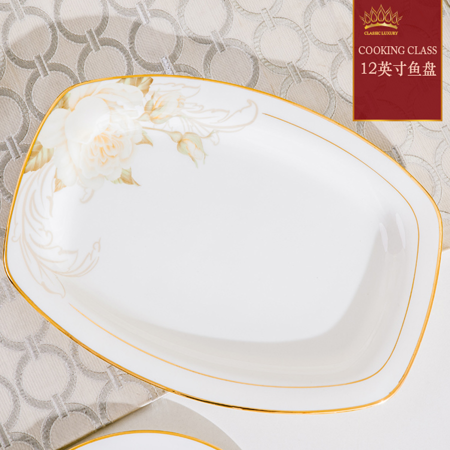 58 Heads Outline In Ceramic Dinner Dish Rice Bowl Soup Bowl Salad Noodles Bowl Plate Dish Bowl Dinnerware Sets Kitchen Tableware in Dishes Plates from Home Garden