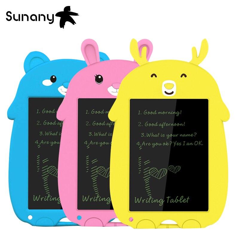 Sunany 8.5 Inch lcd writing tablet cartoon Drawing Electronic Handwriting Pad reusable eco-friendly cute kids Writing Board
