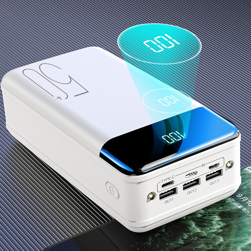 Power Bank 50000mAh Portable Charger Poverbank for iPhone Mobile Phone External Battery Powerbank 50000 mAh for Xiaomi Battery 1