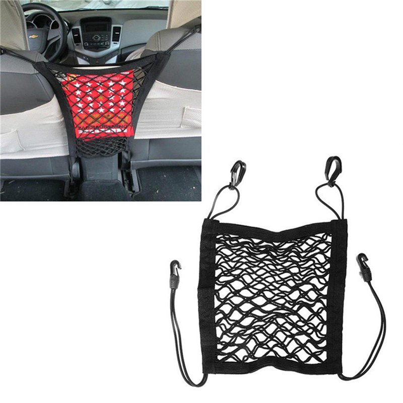 Black Motorcycle Fuel Tank Luggage Net Mesh Hook Hold Bag Cargo Storage Holder for Motorcycle Car General Flexible Suitcase