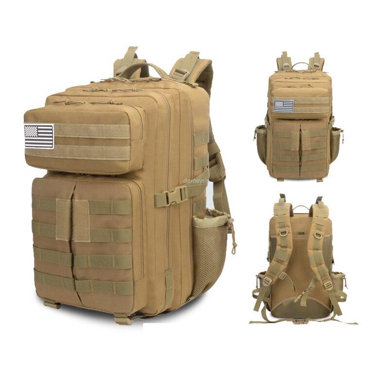 Hommes femmes Trekking randonnée sac à dos 900D Oxford sac de chasse en plein air alpinisme sac à dos Molle militaire tactique sacs à dos