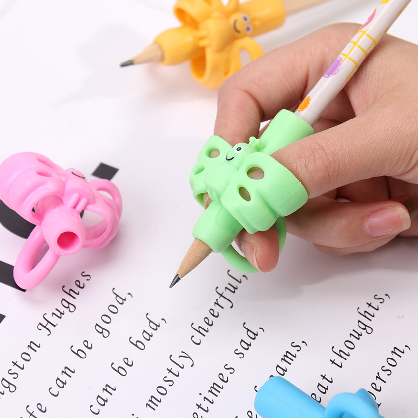 1PC Non Toxic Children Three-Finger Hold A Pen Corrector Writing Aid Grip Posture Correction Tools Office School Supplies
