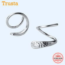 Trustdavis 100% 925 Sterling Silver Wanita Ular Telinga Tulang Telinga Gesper Cincin Padat Mini Double Ring Anting-Anting DA266(China)