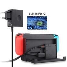 Ue & eua plug adaptador ac carregador para nintend switch ns game console de parede viagem carga em casa 5v 2.6a carregamento usb tipo c power