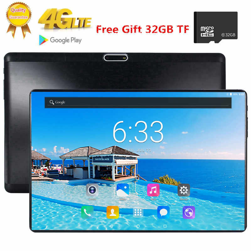 1920X1200 2.5D Ips Gehard Glas Screen 10.1 Inch Octa Core 3G 4G Fdd Lte Tablet 3Gb Ram android 7.0 Tabletten 2.4G + 5G Wifi