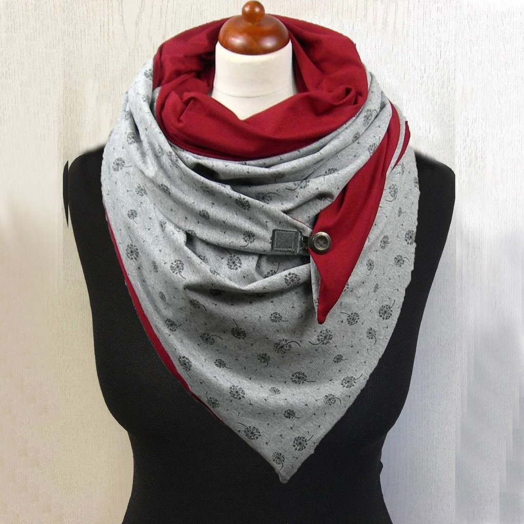 36 Types Design Winter Scarf Knit Women Mens Infinity Scarf Button Cowl Neck Warmer Chunky Tube Scarf Gift Scarves Wraps Z1217#4