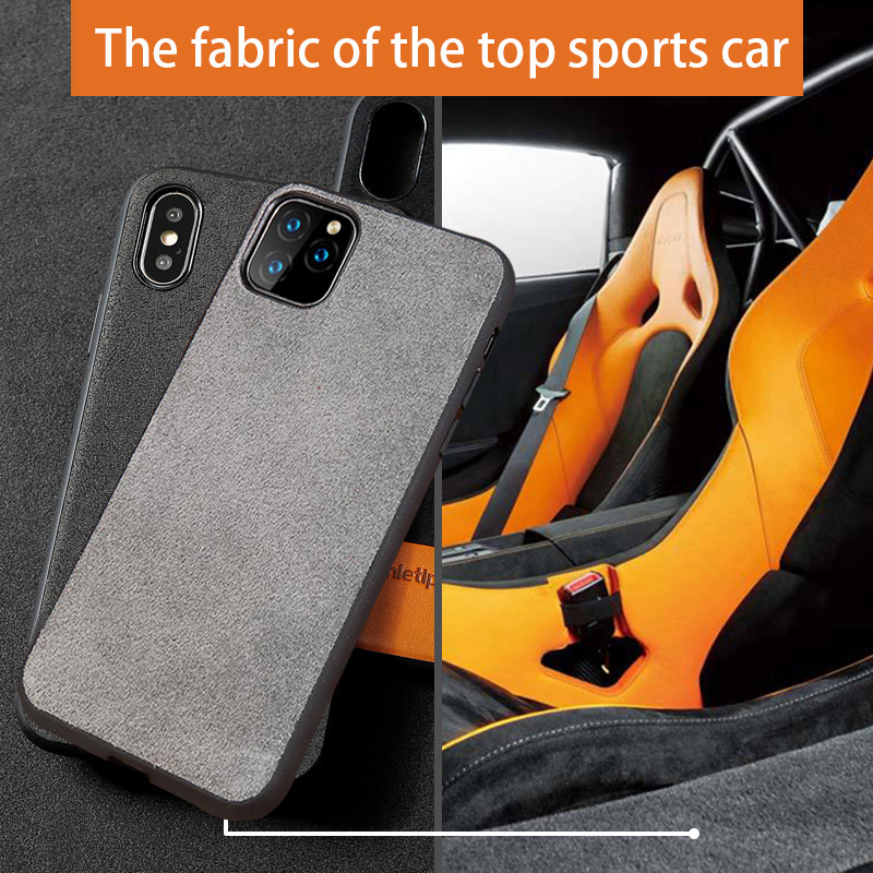 <font><b>Genuine</b></font> Cow Suede <font><b>Leather</b></font> Phone <font><b>case</b></font> for Apple <font><b>iphone</b></font> 11 11Pro 11 Pro Max X XR XS XS max 6 6S 7 8 plus 360 Full protective cover image