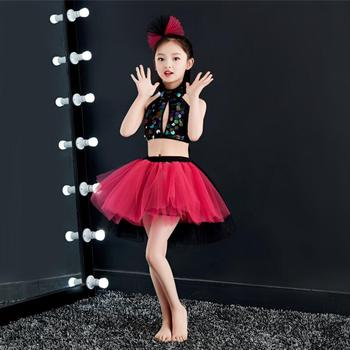 Jazz Dance Children Dance Clothes Performance Clothing Skirt Girls Stage Performance Hip Hop Dance Costumes Kids new girls jazz dance performance clothing two piece hip hop hip hop costume children s practice clothes costumes