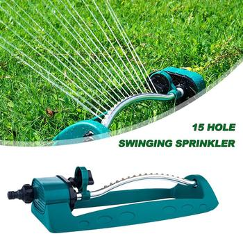 15 Hole Swivel Nozzle Water Spray Nozzle Irrigation Gardening Swing Sprinkler Lawn Agriculture Watering Irrigation System 4 points alloy nozzle automatic rotation lawn watering gardening watering cooling agricultural spray irrigation