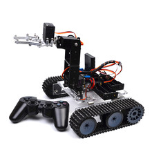 DIY Programmable Tank 4DOF Metal Mechanical Arm Robot Kit High Tech Programmable Toys (Without Battery)(China)