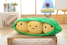 3 Peas In A Pod Plush Toy Soft Throw Pillow Stuffed Pea Pod Toy 85cm Big Cute Toys Doll for Children Kid Birthday Xmas Girl Gift 25cm cute kids baby plush toy pea stuffed plant doll kawaii for children boys girls gift high quality pea shaped pillow toy 138
