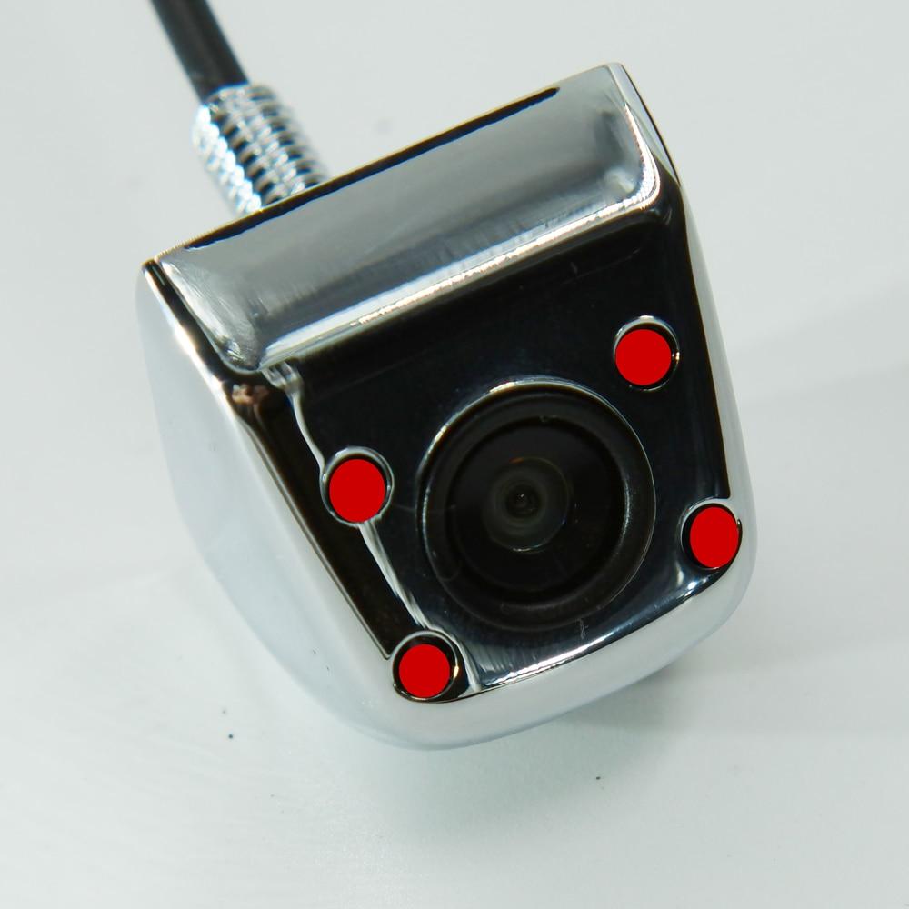 BYNCG Автомобильная камера заднего вида, 4 светодиодный, ночное видение, Реверсивный, Авто парковочный монитор, CCD, водонепроницаемая, 170 градусов, HD видео - Название цвета: 101 Infrared  no 6M