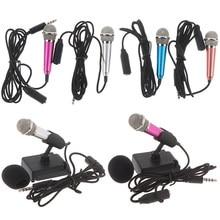 Micrófono estéreo portátil de 3,5mm para estudio, Mini micrófono para Karaoke KTV para teléfono móvil, PC, tamaño del micrófono: app.5.5 cm * 1,8 cm