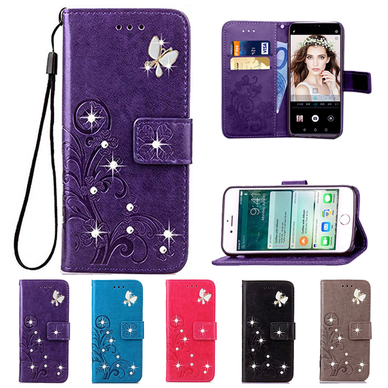 for Asus Zenfone Max ZC550KL <font><b>Z010DD</b></font> Z010DA Case Protected Flip Flower Phone Cases Wallet Leather Silicon Cover Funda Coque image