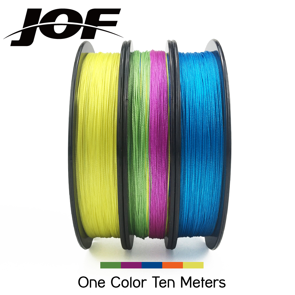 JOF 8 Strands Weaves Braided 150M 300M 500M Fishing Line Super Strong PE Line 15LB-100LB Braided Fishing Thread