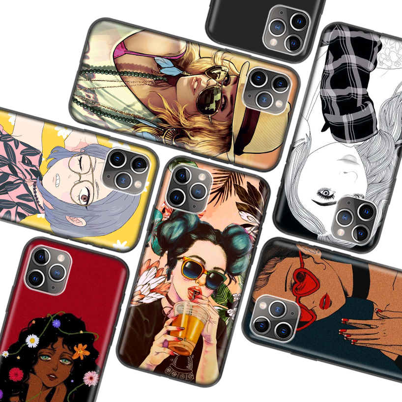 cover iphone 7 ragazza tumblr