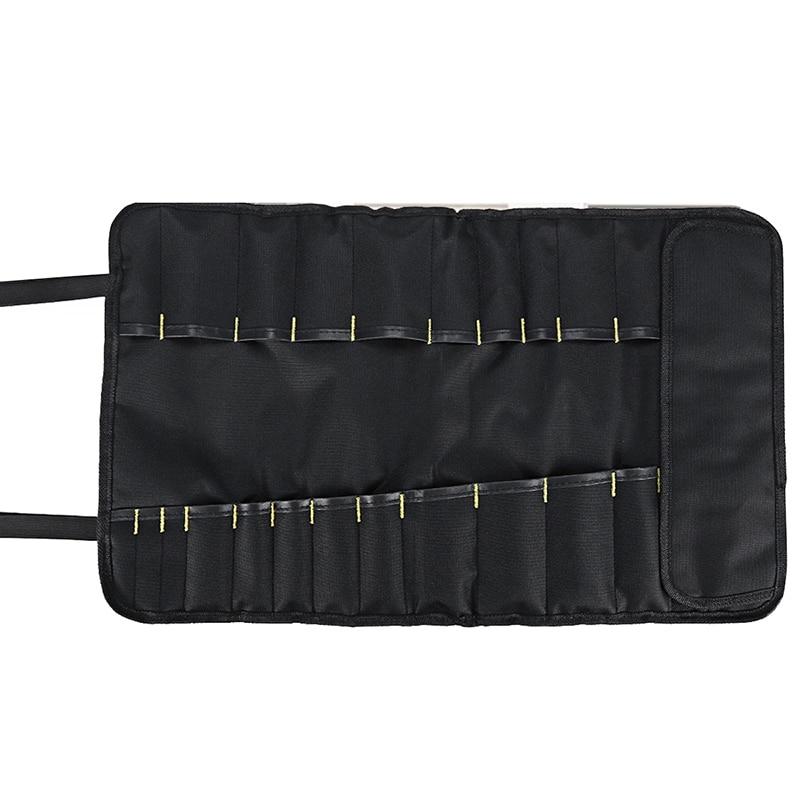 TOP Multifunctional Waterproof Oxford Cloth Folding Roll Bag Portable Toolkit Storage Tool Bag Chef Cutter Storage Bag Organizer
