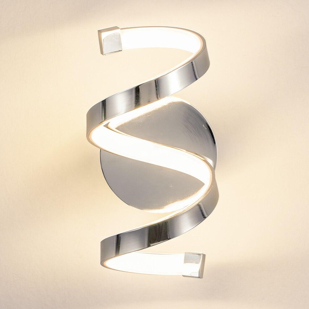 Купить светильник настенный спиральный хромированный 18 вт в скандинавском