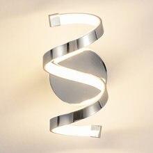 Светильник Настенный спиральный хромированный 18 Вт в скандинавском