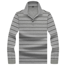 Hollirtiger Trend Gray Polo Shirt Men Homme Autumn Fashion Mens Regular Fit Long Sleeve Casual Cotton Polos XXXL