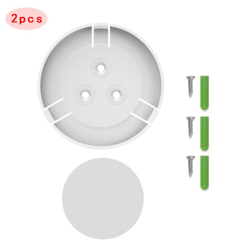 2Set 360 Degree Swivel Plastic Camera Wall Mount Bracket Holder For Mi/Yi Smart Home Security Camera Accessories