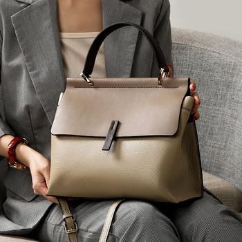 Spring 2019 New Leather Women's Handbag Soft Single Shoulder Messenger