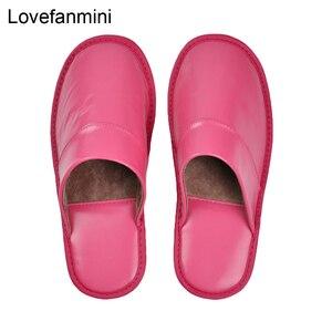 Image 5 - Hakiki koyun derisi deri terlik çift kapalı kaymaz erkekler kadınlar ev moda rahat tek ayakkabı PVCsoft tabanı İlkbahar yaz