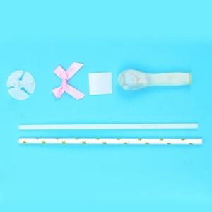 Image 5 - 10/5pcs 생일 웨딩 파티 케이크 토퍼 장식 Bady 샤워 용품에 대 한 빨 대와 5inch 미니 색종이 라텍스 풍선