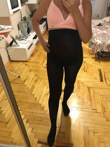 Leggings Pantyhose Fertilizer Spring Velvet Maternity-Pants Pregnant-Women 120D Increase
