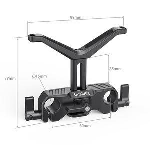 Image 4 - SmallRig para cámara Dslr lente de soporte en forma de Y 15mm LWS soporte de lente Universal con abrazadera de varilla de 15mm aparejo de soporte 2680