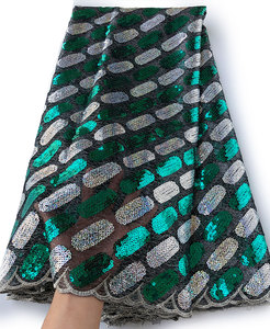 Image 4 - 5 yards Soft sequins french lace African tulle fabric Nigerian Ghana occasional wear very shiny good choice