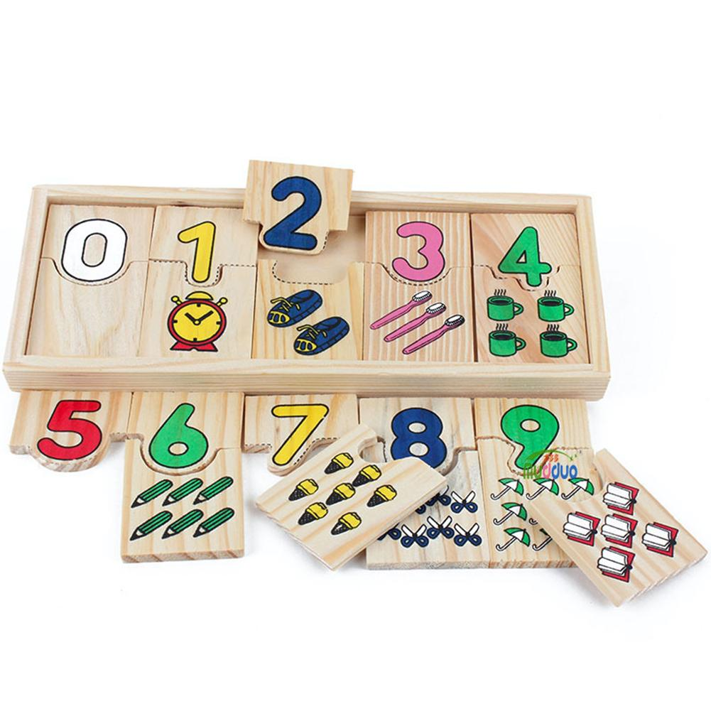Educational Wooden Toys For Children Math Puzzle Kids Montessori Teaching Logarithmic Matching Plate Board Digital Games Gifts