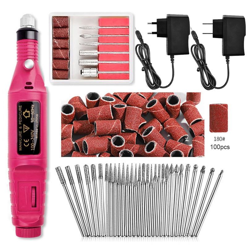 BORN PRETTY Electric Nail Drill Machine Kit Pedicure Nail File Nail Art Pen Grinding Glazing Machine Professional Nail Art Tool