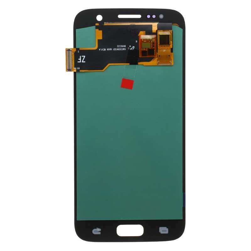 جديد سوبر OLED 5.1 ''LCD مع الإطار لسامسونج غالاكسي S7 عرض G930 G930F محول الأرقام بشاشة تعمل بلمس مع خدمة حزمة