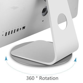 For iMac Stand Aluminum Alloy Dock 360 Rotation Computer Monitor Base Disc Notebook Laptop Stand for Apple iMac Television Tool
