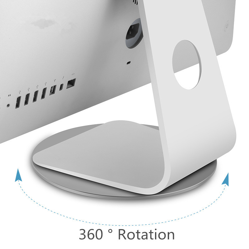 For iMac Stand Aluminum Alloy <font><b>Dock</b></font> 360 Rotation Computer Monitor Base Disc Notebook <font><b>Laptop</b></font> Stand for Apple iMac Television Tool image