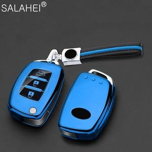 Image 5 - Weiche TPU Auto Schlüssel Abdeckung Fall Halter Keychain Für Hyundai Tucson Creta ix25 i10 i20 i30 Verna Mistra Elantra 2015 2018 zubehör