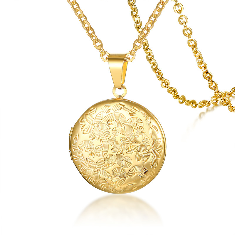New Fashion Pendants Necklaces For Women Gold Color Clavicle Chain Jewelry Accessory Female Necklace Openable